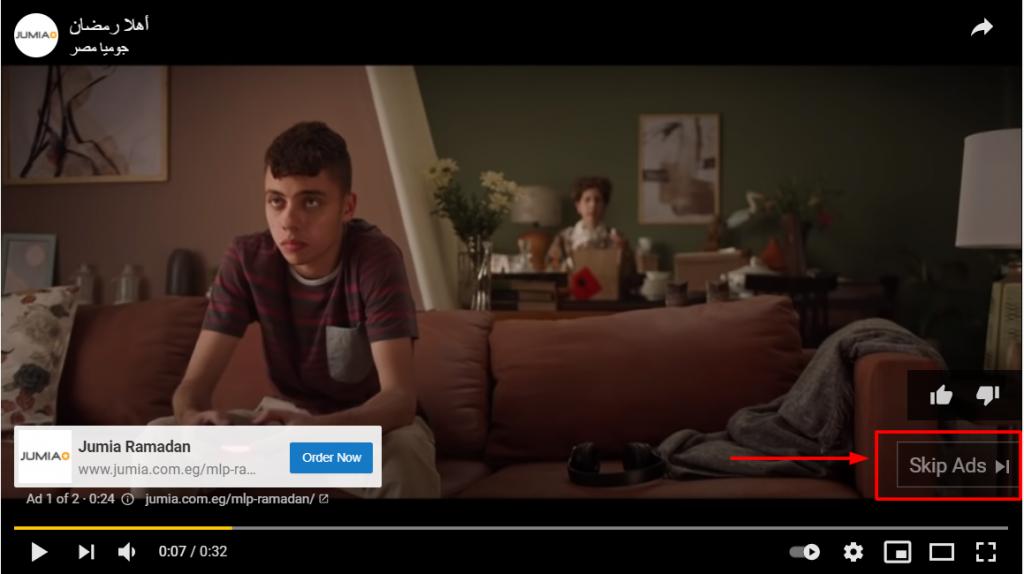 انواع اعلانات يوتيوب