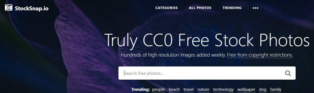 موقع StockSnap من مواقع صور مجانية