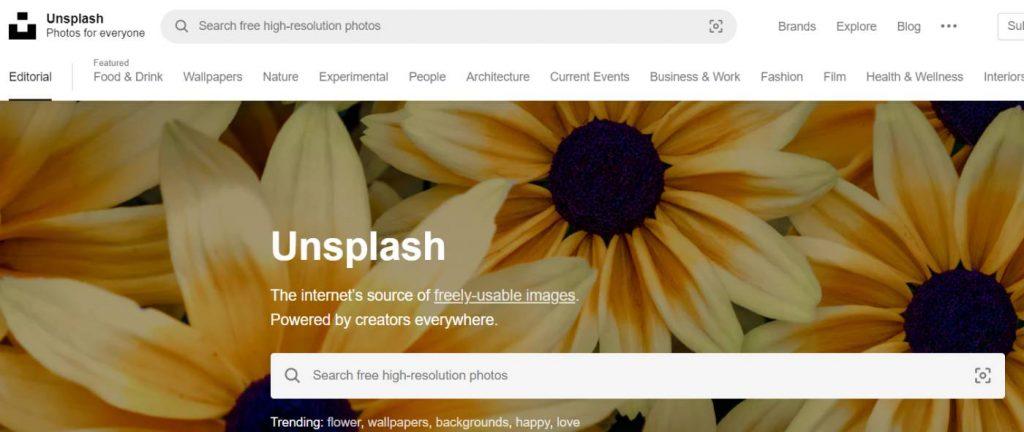 موقع Unsplash أفضل مواقع صور عالية الجودة