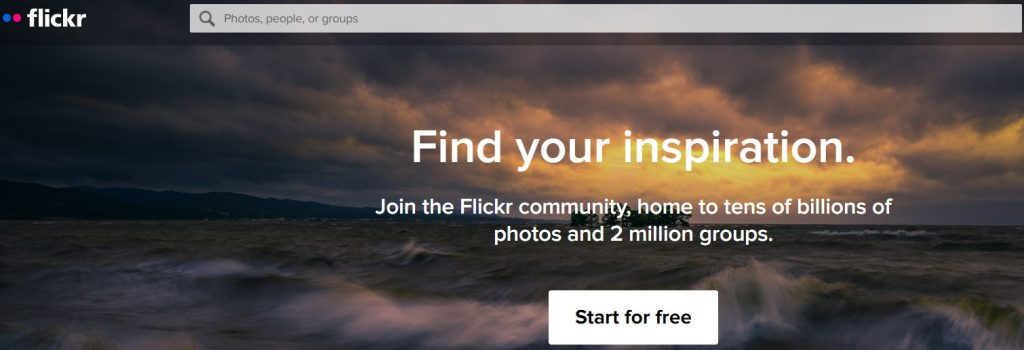 Flickr من أفضل مواقع صور مجانية