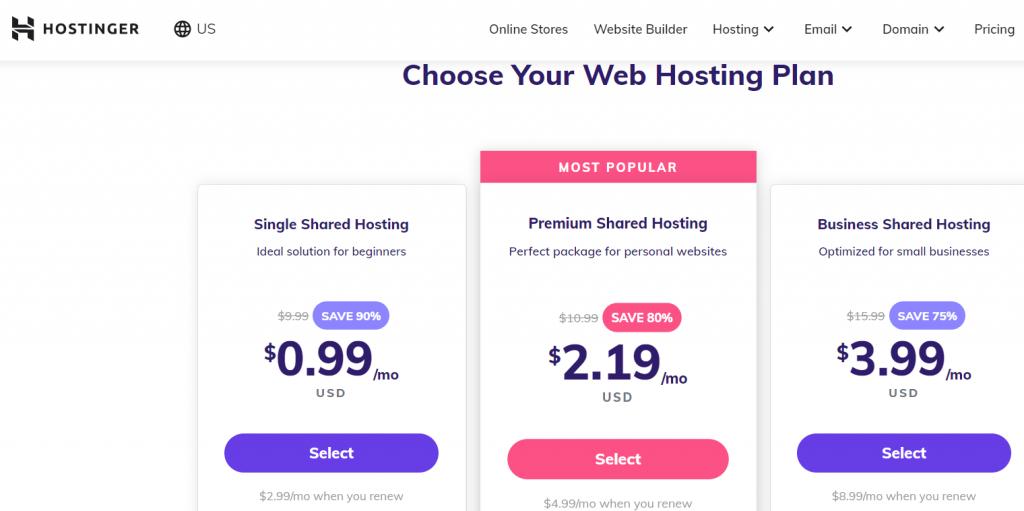 Hostinger شركة استضافة مواقع أجنبية