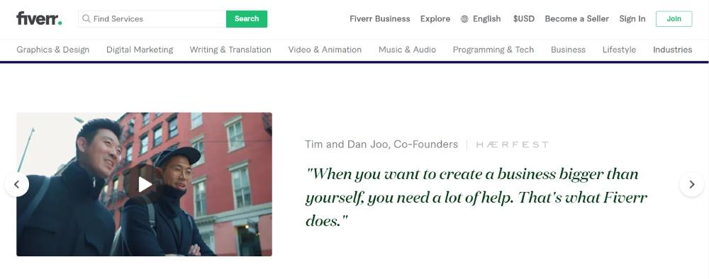 منصة Fiverr من أكبر منصات العمل الحر