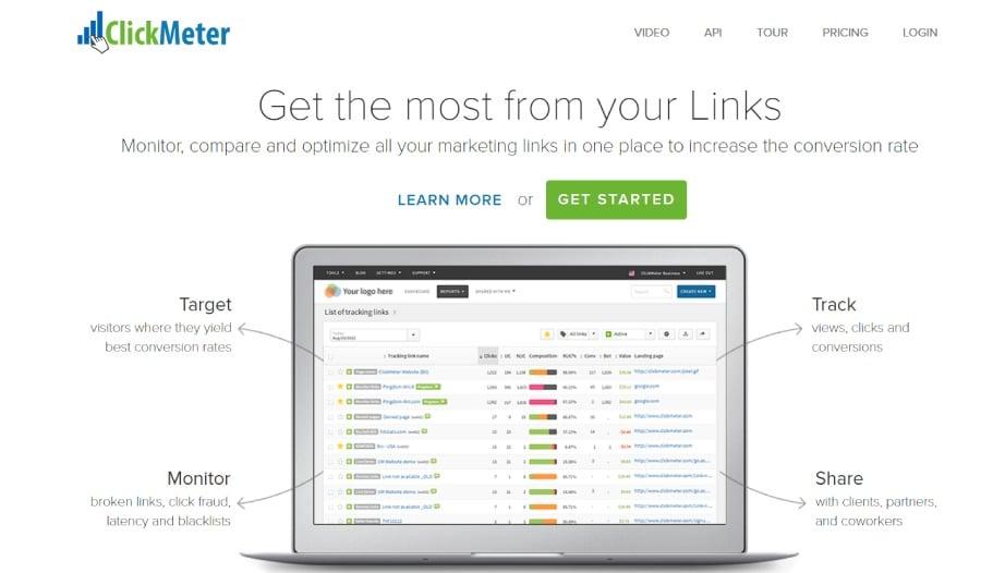 موقع ClickMeter من أفضل مواقع اختصار الروابط