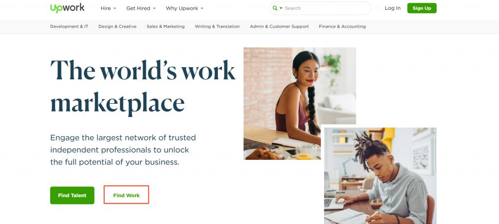 Upwork من منصات العمل الحر عبر الإنترنت