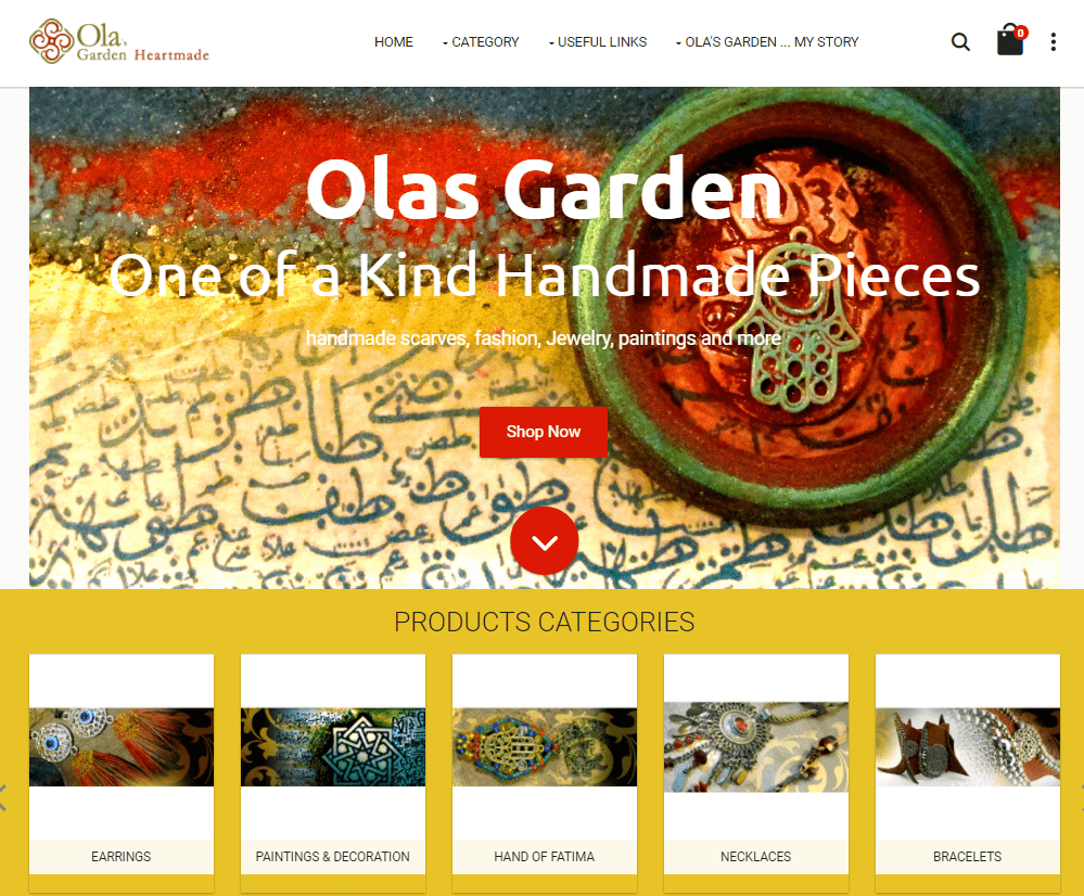 female-owned stores on expandcart-olas garden